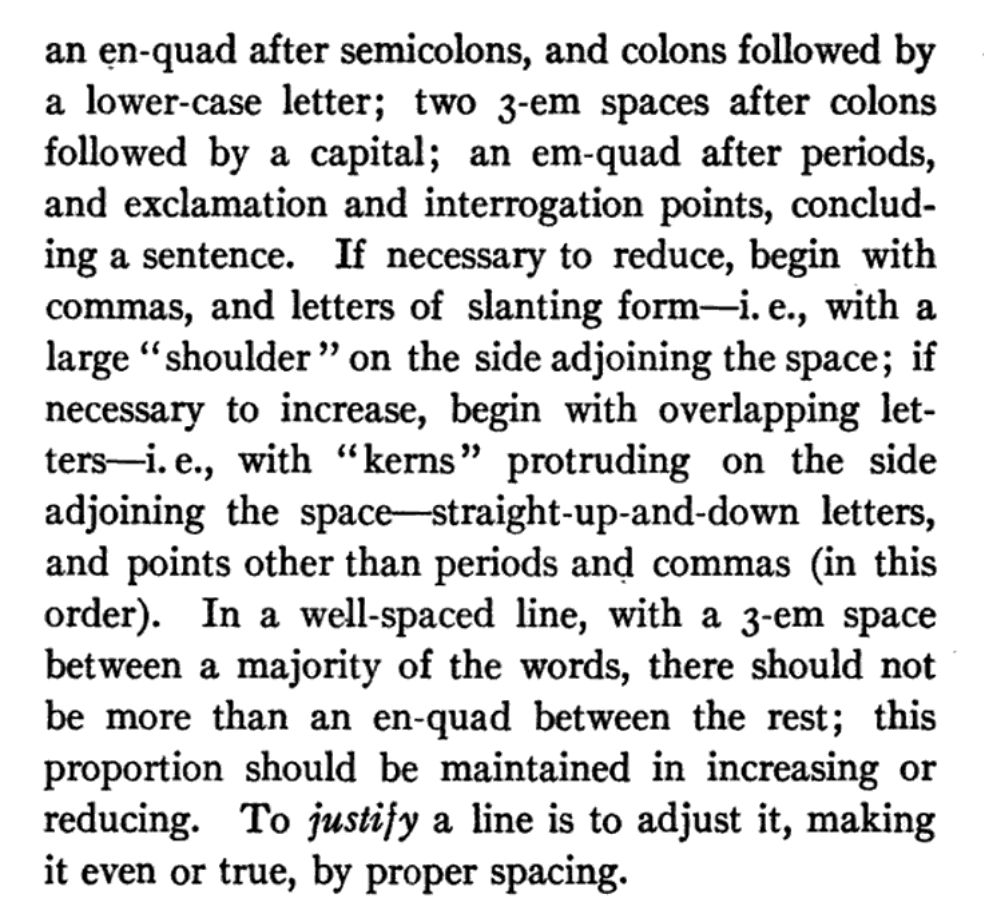 Typesetters Werent Just Double Spacing Between Sentences They Were Triple You Can See This Extra In The Manual Itself